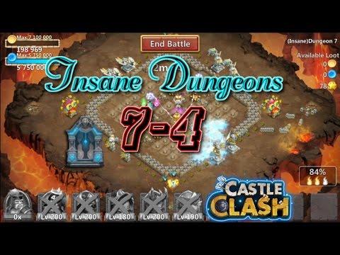 Castle Clash Insane Dungeon 7-4 Gameplay