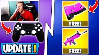 *NEW* Fortnite Update! | Free Item for Everyone, Tfue 7.40, Earthquake!