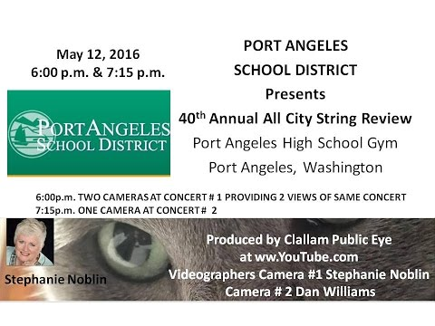 2016 05 12 PASD 40th Annual All City String Review Concert #1 6:00pm+Concert #2 7:15pm
