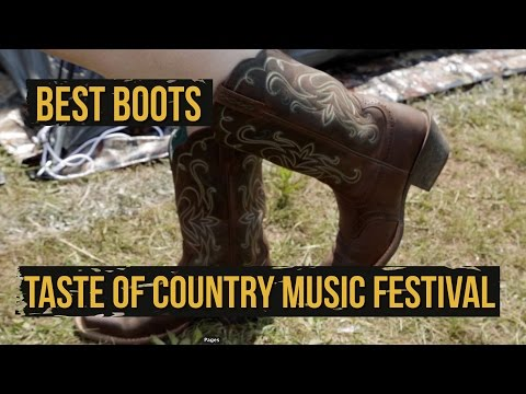Best Cowboy Boots  2015 Taste of Country Music Festival