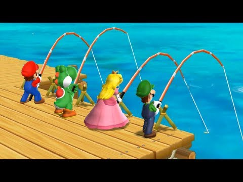 Mario Party 9 Step It Up - Peach vs Mario vs Luigi vs Yoshi Master Difficulty| Cartoons Mee
