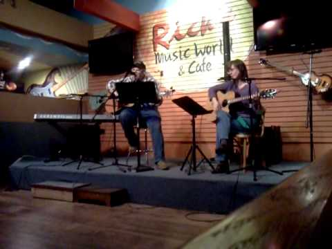 Roger at Rick's music store open mic