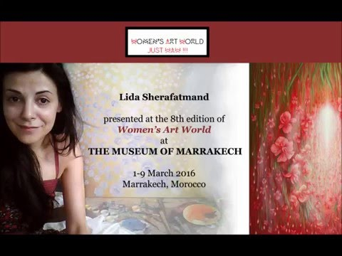 Lida Sherafatmand presented at the Marrakech Museum - March 2016