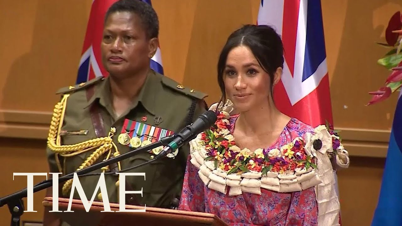 Meghan Markle Has Given Her First Royal Tour Speech   TIME
