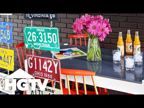 How To Make A License Plate Room Divider Hgtv Youtube