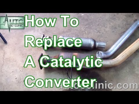 hqdefault how to replace a catalytic converter chrysler town & country 3 8 dodge caravan exhaust system diagram at soozxer.org