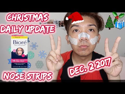 Biore Nose Strips Yuck   Daily Update for LUXXEWHITE  Vlogmas #2 from YouTube · Duration:  6 minutes 59 seconds