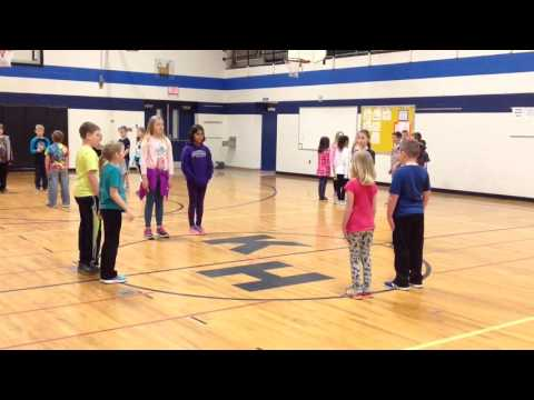 Square dancing for kids - demonstration video with Music