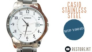 Casio MTP-V004D-7BU Stainless Steel