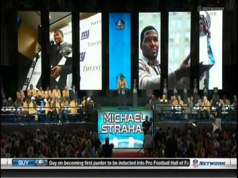 NFL: Hall Of Fame: Class Of 2014: Michael Strahan Enshrineme