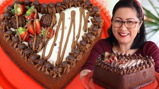 Bolo Coração De Chocolate Super Macio