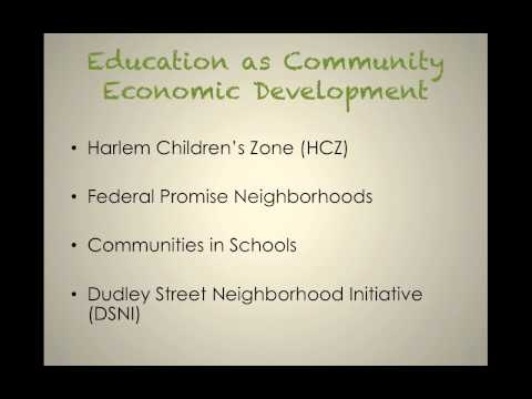 SOWK 4530 Video: The Power of Education toward Community Economic Development