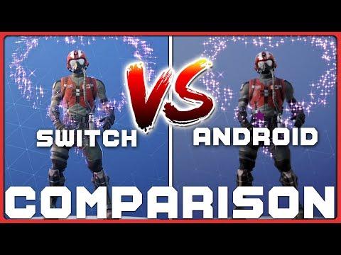 FORTNITE | SWITCH vs. ANDROID (Comparison) Head 2 Head