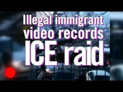 Illegal immigrant video records ICE raid