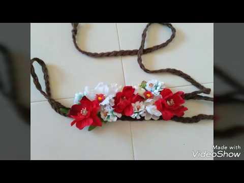 DYE tutorial como hacer cinturón de flores flamenco de boda, flower belt