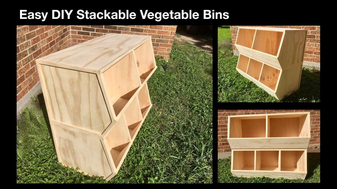 Stackable Vegetable Bins