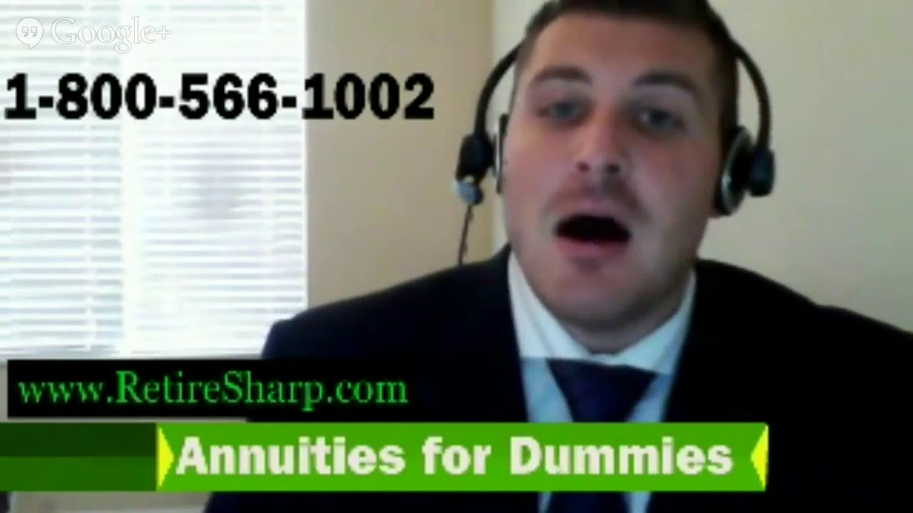 Annuities For Dummies How To Understand Annuities In Minutes Youtube