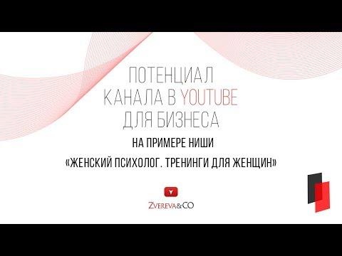 Потенциал развития бизнеса в YouTube на примере ниши Женский психолог