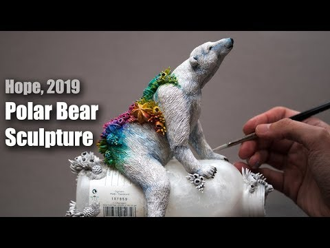 Polar Bear Sculpture - Epoxy Clay - Time Lapse