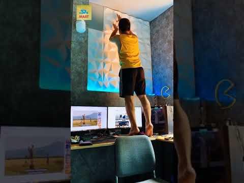 DECOR PHÒNG TRỌ, PHÒNG NGỦ SIÊU ĐẸP |TẤM ỐP NHỰA PVC 3D