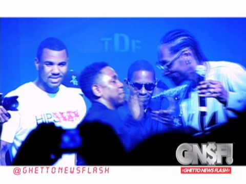 GNSF! Kendrick Lamar in tears after Dr. Dre x Snoop Dogg x The Game pass him the torch