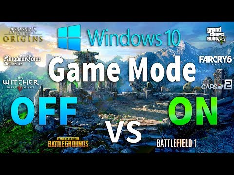 Win 10 Game Mode ON Vs OFF Test In 8 Games
