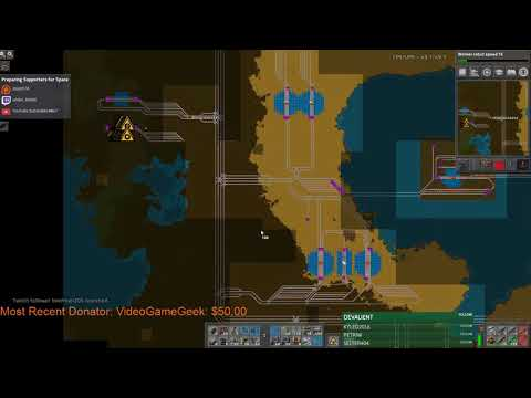 Stream Footage: Factorio Sending Supporters To Space -  Solar Production Setup