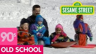 Sesame Street: Kids Sledding in the Snow