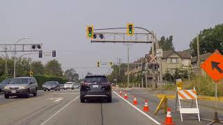 Richmond (BC) British Columbia Canada - Driving on the Steveston Highway - North Area