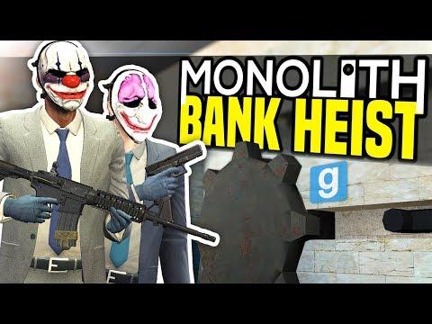 BANK HEIST  Gmod Monolith RP  Making Money!