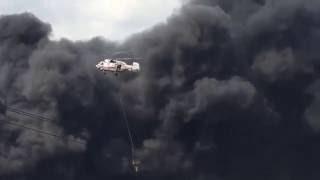 Пожар на складе с лакокрасочными изделиями