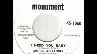 Arthur Alexander I Need You Baby