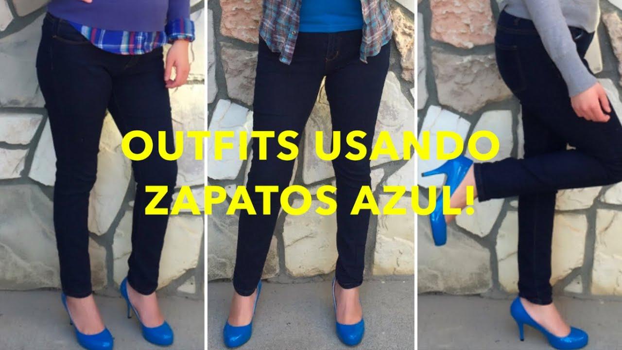Outfits Usando Zapato Azul Zbeibei Youtube