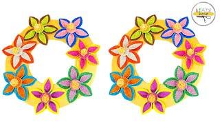 DIY Glitter Sheet Wreath | Christmas Wreath | Wreath making ideas | Just Craft