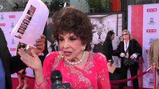 2016 TCM Classic Film Festival - Carpet Chat with Gina Lollobrigida