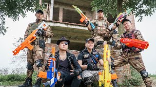 LTT Game Nerf War : Captain Warriors SEAL X Nerf Guns Fight Braum Crazy King Face Flip