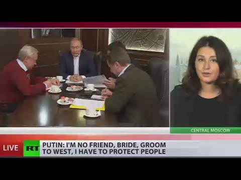 Putin: I'm no friend, bride, groom to West, I have to protect people