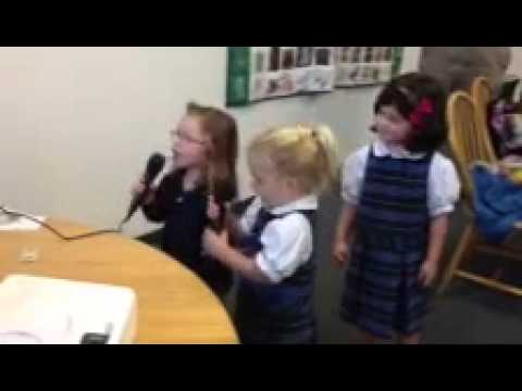 Early School students karaoke their ABCs