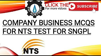 SNGPL SUI GAS NTS TEST PREPARATION - YouTube