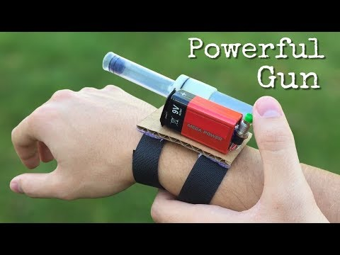 How to Make a Gun on Hand - Amazing DIY Electric Gun
