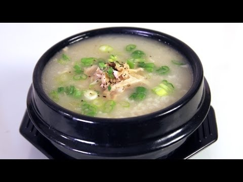 Chicken And Rice Porridge (dakjuk: 닭죽)