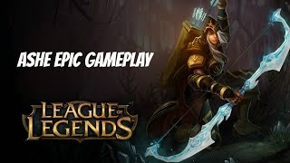 LoL: Ashe Gameplay (No Commentary) Ft. proplayer998