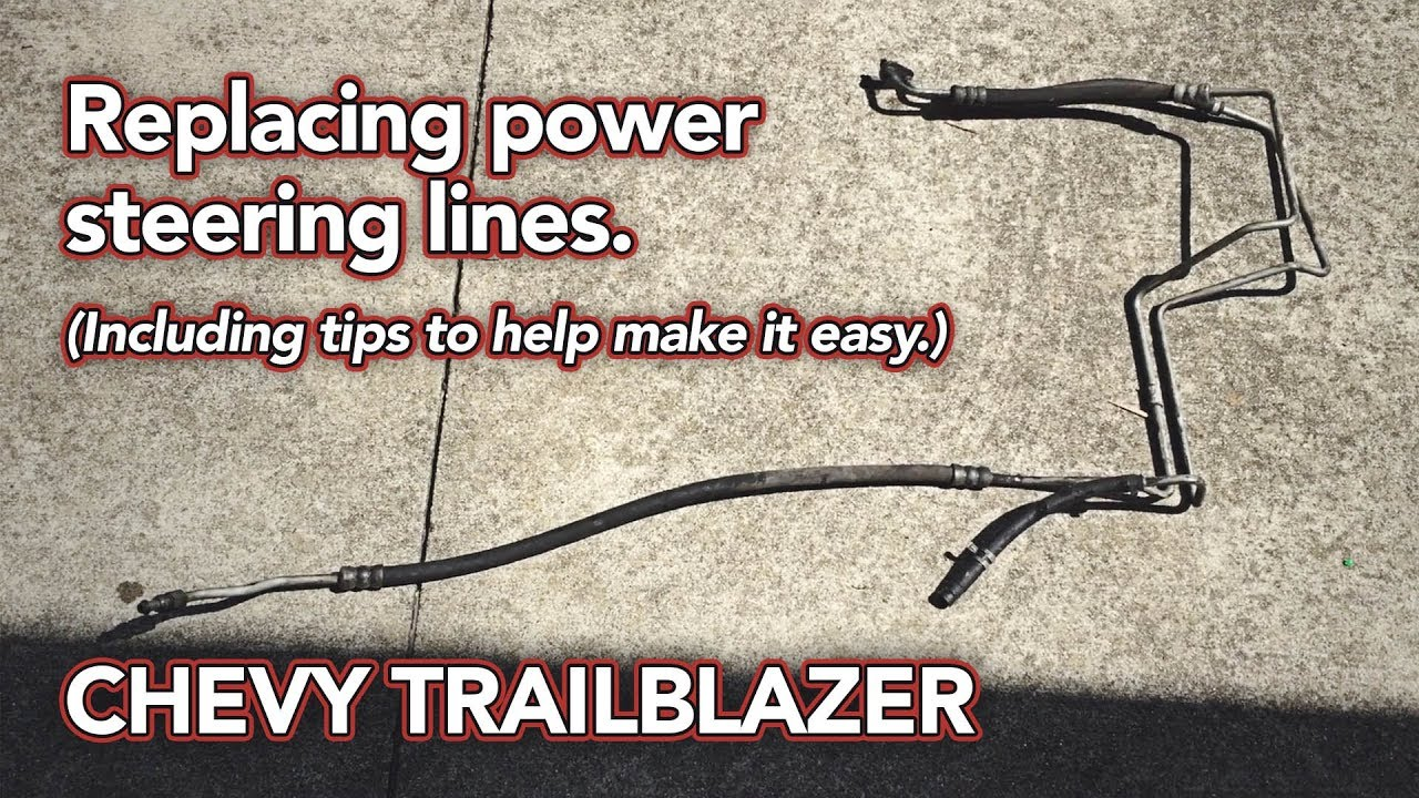 Replacing Trailblazer Power Steering Lines - Bad Leak FIXED