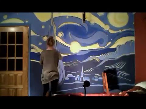 Starry Night   Wall Painting Making Of   Short Version   Annsko Part 95