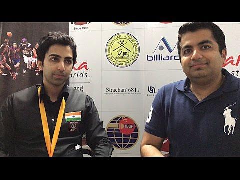 Pankaj Advani in conversation with Shree after winning 16th World title