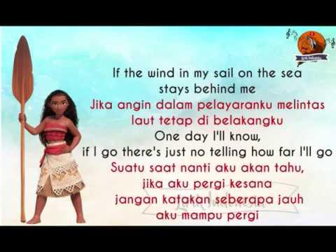 How Far I'll Go-Moana Dengan Lirik Dan Terjemahan Bahasa Indonesa