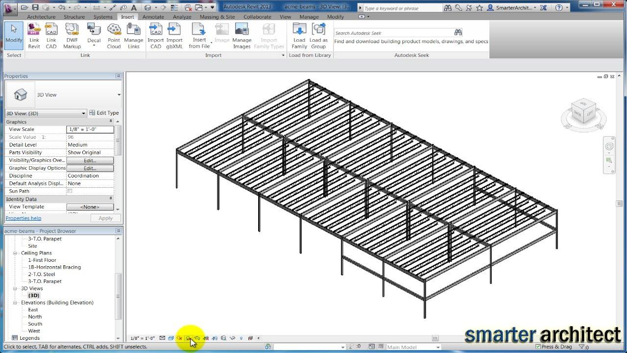 Revit Structure 2013 Tutorials Modeling Revit Bar Joist