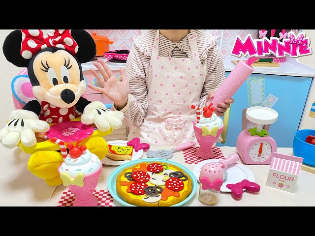 ミニーマウス クッキング ピザづくり おままごと / Minnie Mouse Pizza Party Cooking Playset