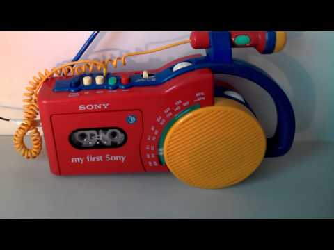 My First Sony Radio Tape Recorder CFM-2300 [R-Player] with karaoke Microphone **FOR SALE!**