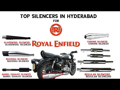 Top Silencers for Royal Enfield in Hyderabad  Complete information on Exhausts   Happy Journey